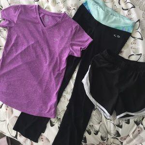 ⭐️Workout bundle •t-shirt & yoga pants & shorts